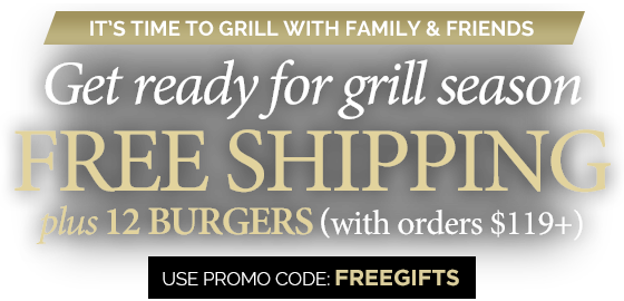 Free gifts with purchase of $119 or more, promo code FREEGIFTS