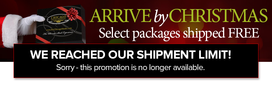 We've reached our shipment limit - sorry but this promotion is no longer available